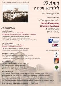 Festa Novantennale Garibaldi programma